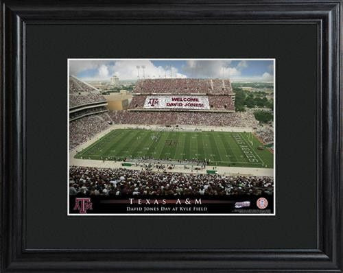 College Stadium Print with Wood Frame - TEXAS A&M-Art-Here Comes The Bling™