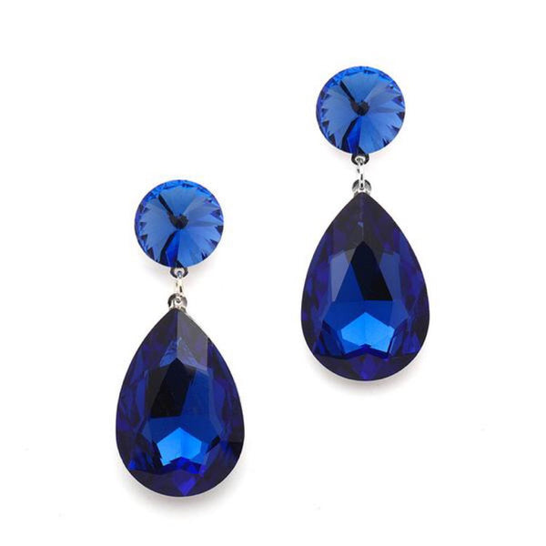 Color Splash Royal Blue Earrings-Earrings-Here Comes The Bling™