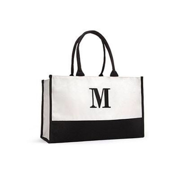 Colorblock Tote in Black-Tote Bags-Here Comes The Bling™