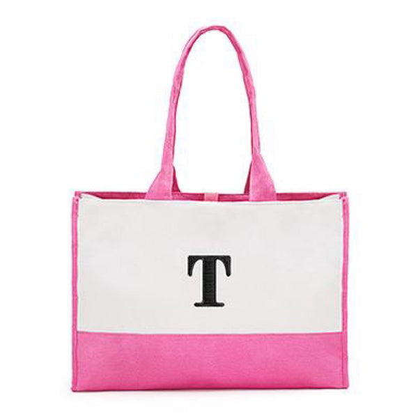 Colorblock Tote in Bubblegum Pink-Tote Bags-Here Comes The Bling™