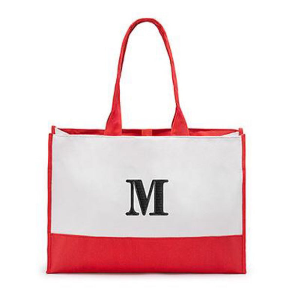 Colorblock Tote in Coral Red-Tote Bags-Here Comes The Bling™