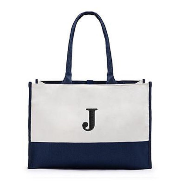 Colorblock Tote in Navy Blue-Tote Bags-Here Comes The Bling™