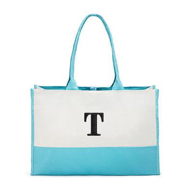 Colorblock Tote in Turquoise-Tote Bags-Here Comes The Bling™