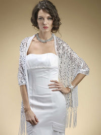 Confetti Sequin Mesh Wrap - White/Silver-Wrap-Here Comes The Bling™