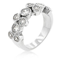 Coral Bezel Cubic Zirconia Ring-Rings-Here Comes The Bling™