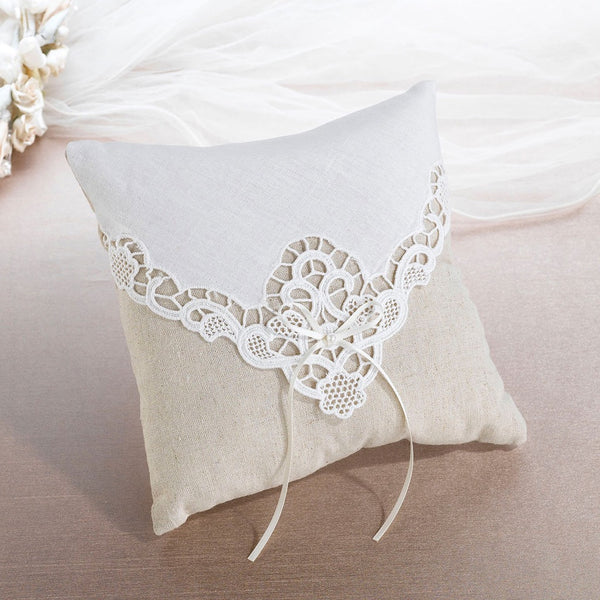 Country Lace Ring Pillow-Ring Pillow-Here Comes The Bling™