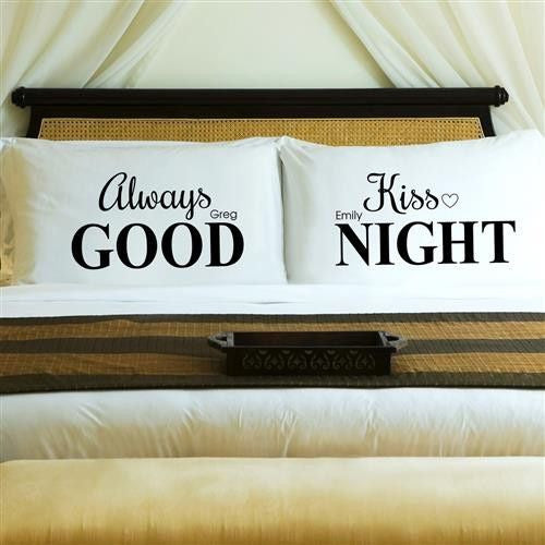 Couples Pillow Case Set - Always Kiss-Pillow Case-Here Comes The Bling™
