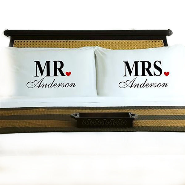 Couples Pillow Case Set - Mr & Mrs-Pillow Case-Here Comes The Bling™