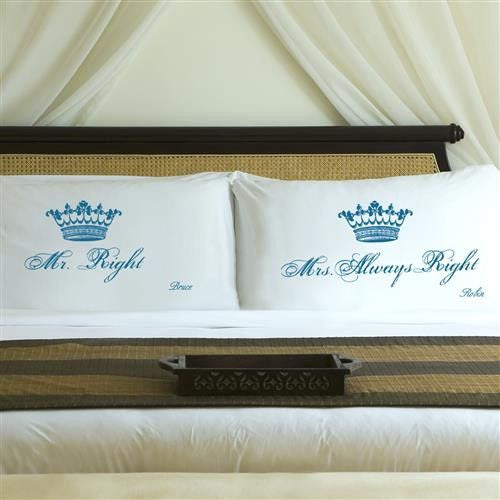 Couples Pillow Case Set - Royalty-Pillow Case-Here Comes The Bling™