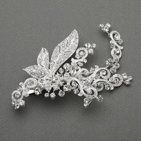 Crystal Art Nouveau Bridal Headpiece-Clips-Here Comes The Bling™