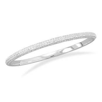 Crystal Domed Bangle Fashion Bracelet-Bracelets-Here Comes The Bling™