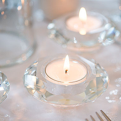 Crystal Tealight Holders Pack of 6-Decor-Candle Holder-Here Comes The Bling™