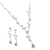 Crystal Vine Drop Necklace Set-Sets-Here Comes The Bling™