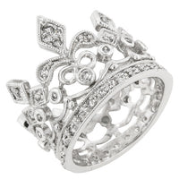Cubic Zirconia Crown Eternity Ring-Rings-Here Comes The Bling™