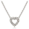 Cubic Zirconia Heart Silhouette Pendant-Necklaces-Here Comes The Bling