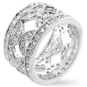 Cubic Zirconia Hill Eternity Ring-Rings-Here Comes The Bling™
