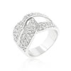 Cubic Zirconia Knot Ring-Rings-Here Comes The Bling™