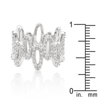 Cubic Zirconia Oval Fashion Ring-Rings-Here Comes The Bling™