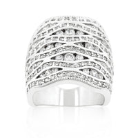 Cubic Zirconia Pave Abstract Ring-Rings-Here Comes The Bling™
