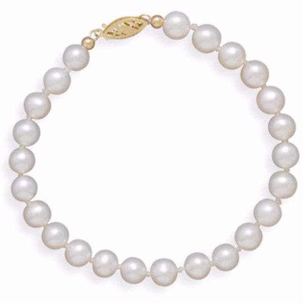Cultured Freshwater 5.5mm Pearl Bracelet-Bracelets-Here Comes The Bling™