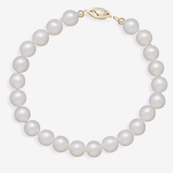 Cultured Freshwater 6.5-7mm Pearl Bracelet-Bracelets-Here Comes The Bling™
