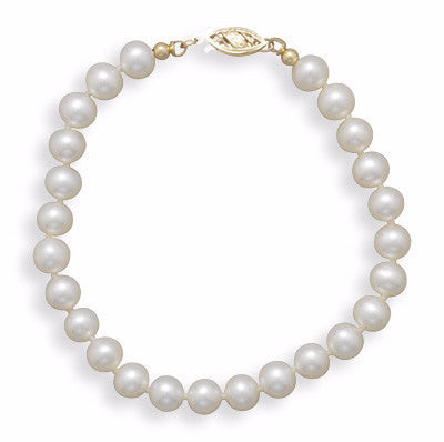 Cultured Freshwater 6.5mm Pearl Bracelet-Bracelets-Here Comes The Bling™