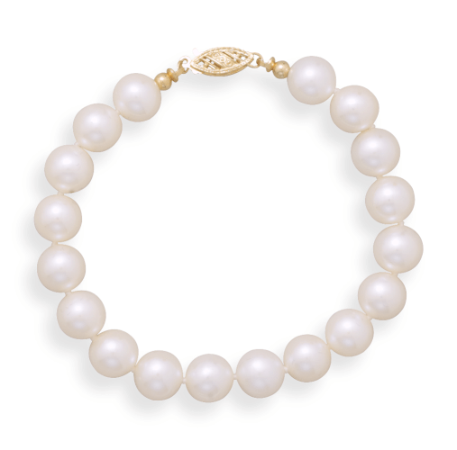 Cultured Freshwater 8.5mm Pearl Bracelet-Bracelets-Here Comes The Bling™