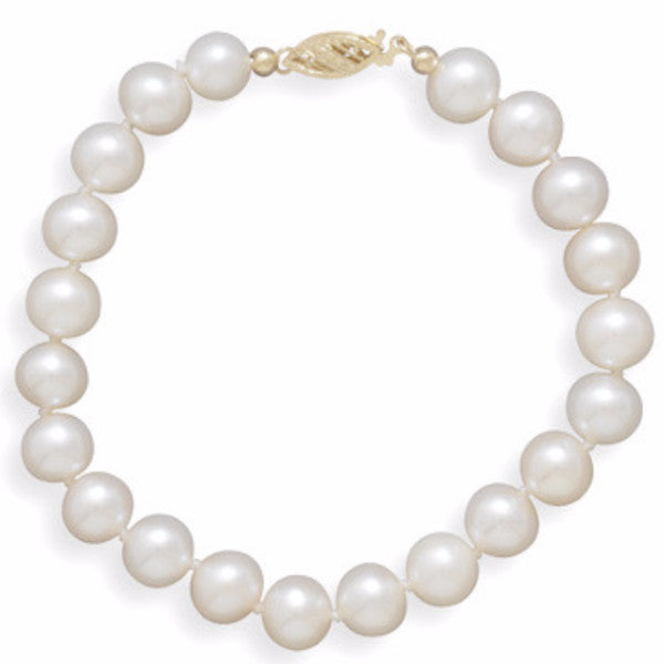 Cultured Freshwater 8mm Pearl Bracelet-Bracelets-Here Comes The Bling™