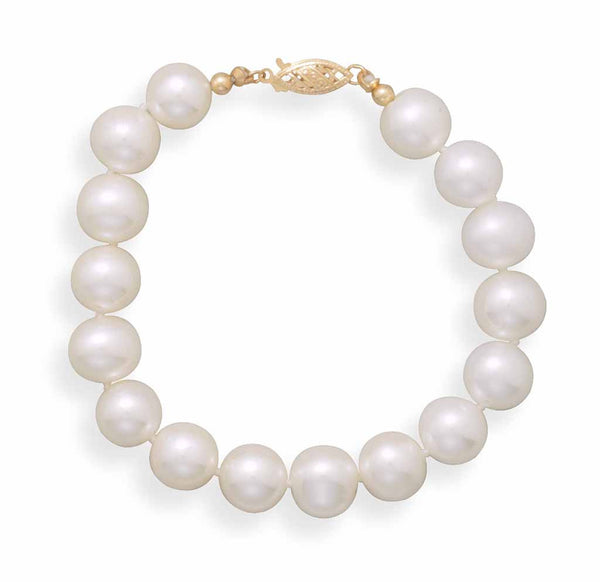 Cultured Freshwater 9mm Pearl Bracelet-Bracelets-Here Comes The Bling™