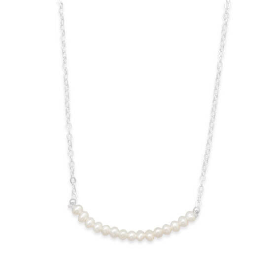 Cultured Freshwater Pearl Necklace June Birthstone-Necklaces-Here Comes The Bling™