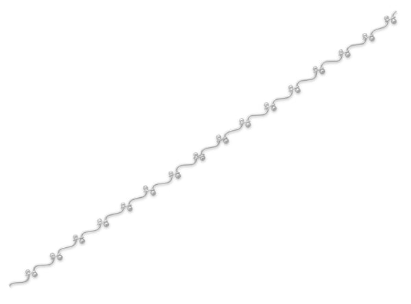 Curved Bar with Bead Anklet-Anklets-Here Comes The Bling™