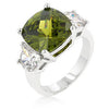 Cushion Cut Olive Triplet Ring-Rings-Here Comes The Bling™