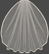 "Custom 3/8"" Satin Ribbon Edge Veil ( Made to Order)-Veils-Here Comes The Bling™"