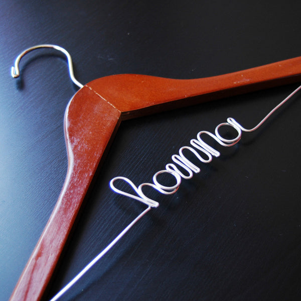 Custom Script Child-Size Hanger (Available in 2 Colors)-Hangers-Here Comes The Bling™