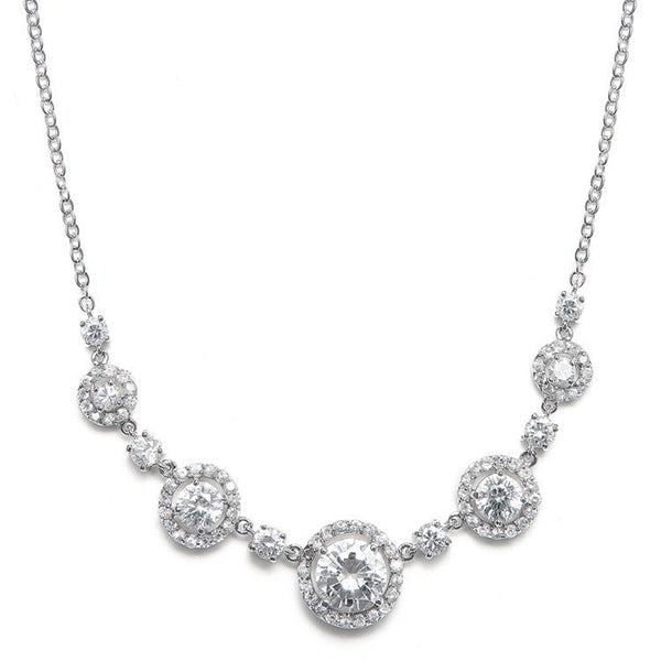 CZ Circles Necklace-Necklaces-Here Comes The Bling™