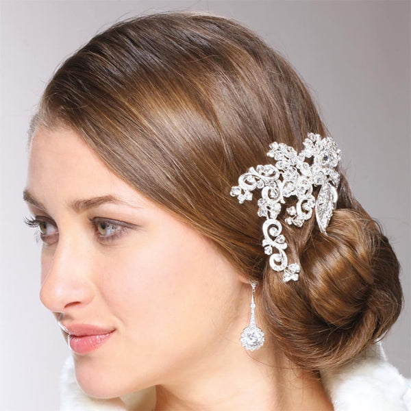 CZ Vintage Bridal Earrings with Round Solitaire-Earrings-Here Comes The Bling™