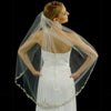 Couture Single Layer Metallic Lace Bridal Veil