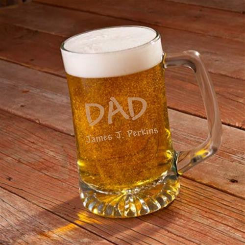 Dad 25oz Sports Mug-Beer Mugs-Here Comes The Bling™