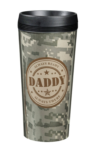 Daddy Camouflage Cup-Travel Mugs-Here Comes The Bling™