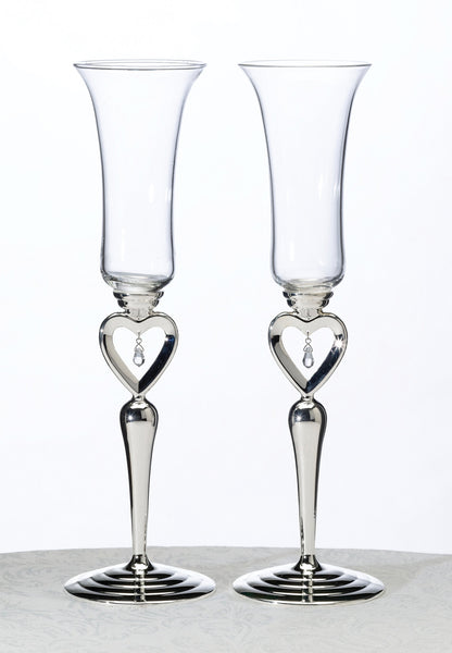 Dangling Jewel Glasses-Toasting Flutes-Here Comes The Bling™