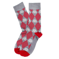 Darth Vader Argyle Stripe Gray Socks-Socks-Here Comes The Bling™