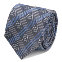 Darth Vader Blue Plaid Tie-Tie-Here Comes The Bling™