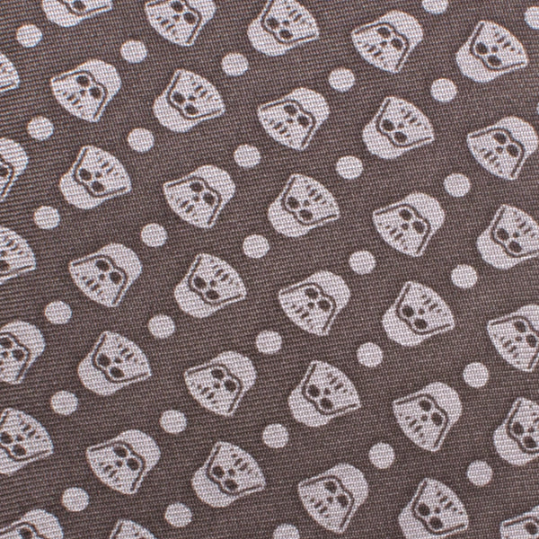 Darth Vader Tight Dot Boys' Zipper Silk Tie-Boys-Ties-Here Comes The Bling™
