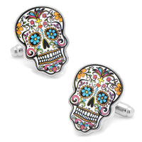 Day of the Dead Skull Cufflinks-Cufflinks-Here Comes The Bling‰̣ۡå¢
