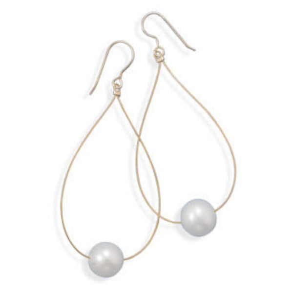 Deborah Gold Drop Pearl Earrings-Earrings-Here Comes The Bling™