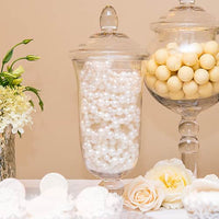 Decorative Pedestaled Apothecary Jar with Bell Shaped Bowl-Decor-Centerpiece-Here Comes The Bling™