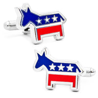 Democratic Donkey Cufflinks-Cufflinks-Here Comes The Bling䋢