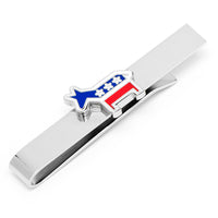 Democratic Donkey Tie Bar-Tie Bar/Tie Clip-Here Comes The Bling䋢