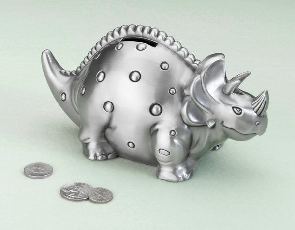 Dinosaur Pewter Bank-Baby Gifts-Here Comes The Bling™