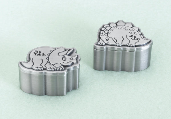 Dinosaur Pewter Tooth & Curl Box-Baby Gifts-Here Comes The Bling™